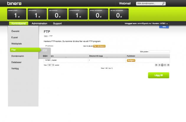 Filer -> FTP