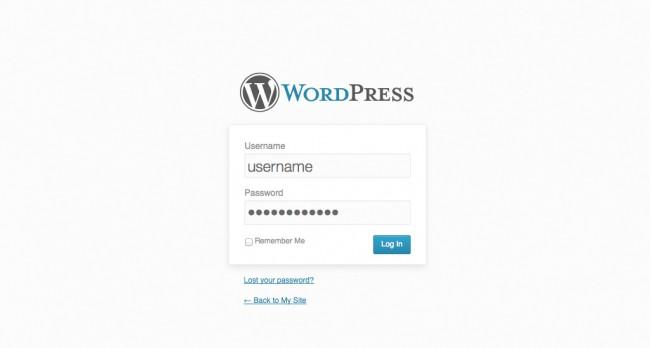 wp login sida