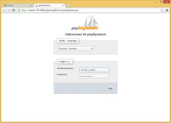 phpMyAdmin_binero4